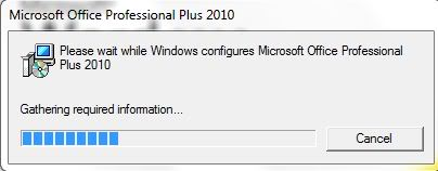 Windows configures microsoft office